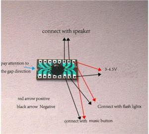 DHY-16 sound effect chip board pinout